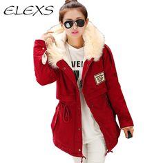 Cheap Elexs Nueva Moda de Invierno Mujeres Fur Hooded Zipper Embellecido Fleece…