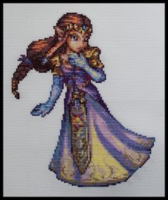 Zelda, by riotpatch. via SpriteStitch. I need to make this, and Link too, for Luke. Yeah, that'll only take me 20 years ...