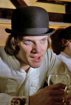 """A Clockwork Orange (1971) """"Enjoying that are you my darlin? Bit cold and pointless isn't it my lovely? What's happened to yours my little sister?"""""""