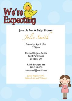expecting, babyshower invitation