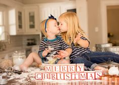 Pin for Later: Prince George and Princess Charlotte Just Won the Contest For the Cutest Holiday Card Photo Baking Cookies Sometimes, the happiest of memories come complete with a mess.