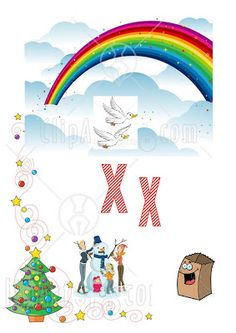 dreamskindergarten Το νηπιαγωγείο που ονειρεύομαι !: Εικονογραφημένο λεξικό για το νηπιαγωγείο – Το γράμμα Χ Xmas, Education, Alphabet, Blog, Greek, School, Christmas, Alpha Bet, Navidad