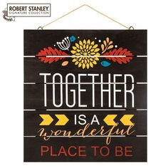 Together is Wonderful Wood Wall Decor