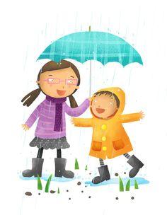 Rainy Day Story Art Print