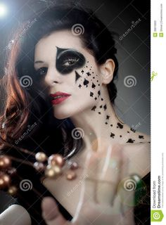 queen of spades makeup - Google Search