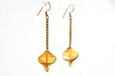 Glass Earrings, Drop Earrings, Silver Jewelry, Unique Jewelry, Murano Glass, Blown Glass, Beads, Handmade Gifts, Shop