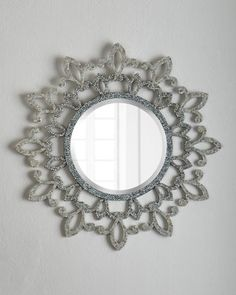 Shop Fleur-De-Lis Lace Mirror at Horchow, where you'll find new lower shipping on hundreds of home furnishings and gifts. Home Decor Sale, Home Decor Items, Elegant Home Decor, Elegant Homes, Floor Mirror, Sofa Design, Decoration, 5 D, Home Furnishings