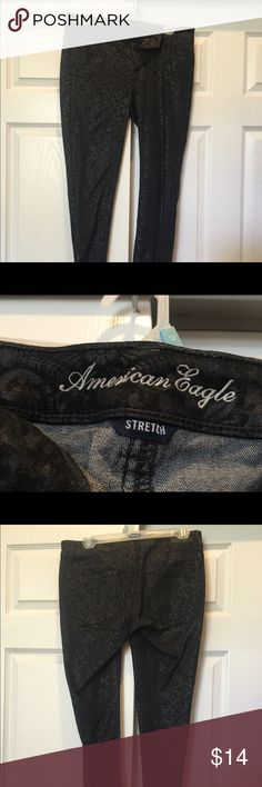 American Eagle black jeans American Eagle Girls Black Jeans with Glitter American Eagle Outfitters Jeans Skinny