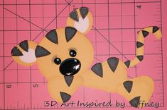 B075 3D Hand Cut Paper Piecing Jungle Tiger Zoo Scrapbooking Cardmaking - Pre-Made Pages & Pieces