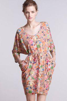 Anthropologie September Test-Sheet Dress Size L, Slub Jersey By Mia Christopher #MiaChristopher #Blouson #Casual
