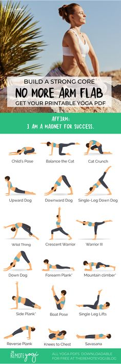 Build powerful upper body strength with this printable yoga sequence designed to target abs and arms. Get toned and feel strong with this workout. Beginner Yoga Workout, 20 Minute Workout, Workout For Beginners, Iyengar Yoga, Ashtanga Yoga, Vinyasa Yoga, Yoga Flow Sequence, Yoga Sequences, Easy Yoga Poses