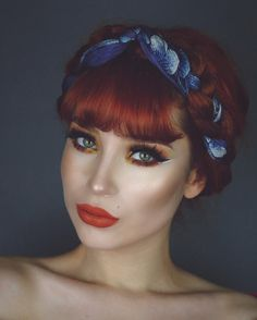 looks gorgeous in X OFRA's 🔥Miami Fever🔥 Liquid Lipstick! Edgy Makeup, Flawless Makeup, Skin Makeup, Beauty Makeup, Hair Beauty, Retro Hairstyles, Hairstyles With Bangs, Grey Hair Modern, Hair Color Dark