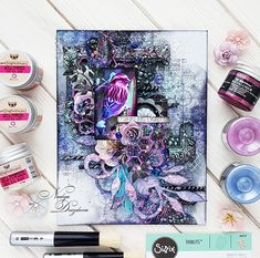 Amazing shades of purple and blue in a canvas created by Nadya. There is also a video tutorial. Enjoy :) https://loom.ly/yVRl7OM