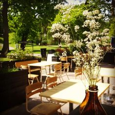 Come and join our beautiful park terrace, Southpark Restaurant / Ravintola Southpark, Helsinki Beautiful Park, Outdoor Furniture Sets, Outdoor Decor, South Park, Helsinki, Terrace, Restaurant, Table Decorations, Modern