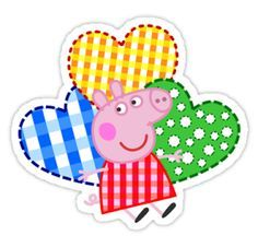 Peppa Pig Hearts by Purin Familia Peppa Pig, Peppa Pig Imagenes, Nerdy Baby Clothes, Pig Png, Peppa Pig Birthday Cake, 3rd Birthday, Cumple Peppa Pig, Peppa Pig Family, Peppa Pig