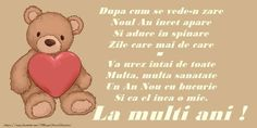 Anul Nou Poezie de Anul Nou An Nou Fericit, Winnie The Pooh, Disney Characters, Fictional Characters, Facebook, Eat, Happy New Year, Winnie The Pooh Ears, Fantasy Characters