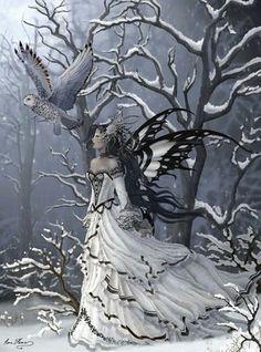 QUEEN OF OWLS Nene Thomas NIB 1000 piece Jigsaw Puzzle Fairy Fantasy Artist RARE on eBay!