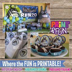 20off SALE TOTORO Boy Party Printables Festa por Printnfun en Etsy, $21.00