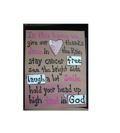 Cancer Quotes Breast Cancer Sign by AntonMurals on Etsy, $34.95