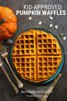 Cooking with Your Kid: Pumpkin Waffles - Your Kid's Table Note:Delicious, make again Baby Food Recipes, Gourmet Recipes, Cooking Recipes, Cooking Tools, Skillet Recipes, Cooking Classes, Mama Cooking, Kid Cooking, Gourmet Cooking
