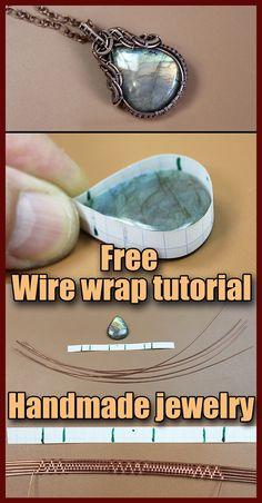 Wire Jewelry Patterns, Wire Jewelry Designs, Handmade Wire Jewelry, Copper Wire Jewelry, Stone Jewelry, Wire Wrapping Crystals, Stone Wrapping, Diy Wire Wrapping Stones, Wire Jewelry Making