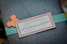 Hidden Mickey wedding invitations