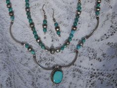 Original design sterling and genuine turquoise by Jadelsjewelry, $165.00