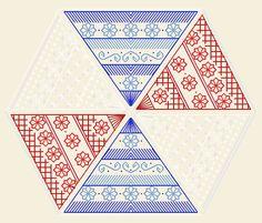 Boutique de la Brodeuse Bressane: Hexafleur - embroidery pattern