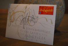 Calligrapher Yves Leterme