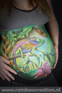 Bellypaint kameleon.