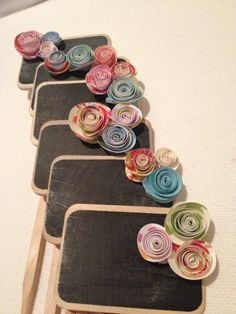 Mini Chalkboard Signs multicolored  - wedding, table numbers, party, dessert or food label.