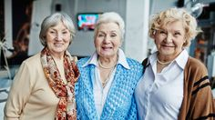 Portrait of three senior women smiling at camera aged Sixty And Me, One Block Wonder, Living Alone, Quilt Of Valor, Double Wedding, Woman Smile, Landscape Quilts, Traditional Quilts, Golden Girls