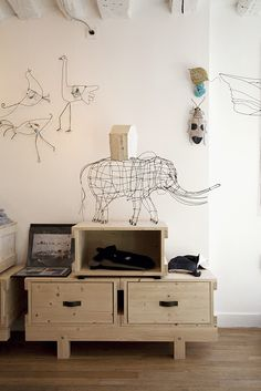 wire sculptures from Merchant Design blog