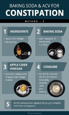 It's well-known that baking soda is a great fighter against constipation. But, here we will offer you a home remedy with baking soda with apple-cider vinegar. This is a very useful recipe that will help you solve your other digestive problems too.