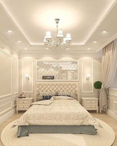 Creative Ceiling Designs For Your Master Bedroom - ceiling design Home Room Design, Home Ceiling, Ceiling Design Bedroom, Bedroom False Ceiling Design, Luxurious Bedrooms, Modern Bedroom, Contemporary Room, Luxury Bedroom Master, Classic Bedroom