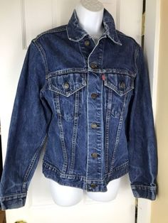 Size 38 Levi's BIG E BLUE Jean Jacket denim 70s trucker Type 3 USA 70505 O217