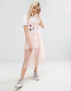 Mesh Dresses + Fashion Blogger + Blogger Inspiration + Pink Dress + Clothing