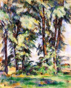 Paul Cézanne ~ Large Trees at Jas de Bouffan, c.1890