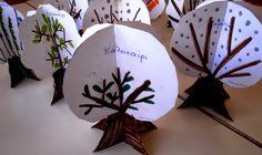1ο ΝΗΠΙΑΓΩΓΕΙΟ ΙΣΤΙΑΙΑΣ: Χρόνος, Εποχές και Μήνες στο Νηπιαγωγείο (μέρος 2) Autumn Inspiration, Decorative Plates, Seasons, Fall, Tableware, Winter, Kindergarten, Space, Autumn