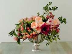 You can still get a stunning floral arrangement to mom with these tips Wedding Flower Arrangements, Floral Centerpieces, Floral Arrangements, Wedding Flowers, Tall Centerpiece, Centerpiece Wedding, Bouquet Wedding, Purple Wedding, Fresh Flowers