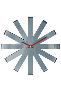 Stainless ribbon clock