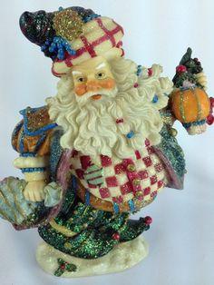 Unique Mark Roberts Christmas Santa Elf Fairy. Limited Production Glittered Resin Figurine.  Fun!