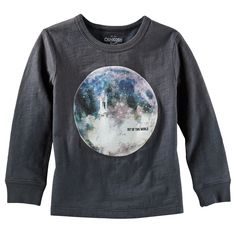 NWT Gymboree STAR BRIGHTS Glow in the Dark Spaceship Out of this World T-shirt