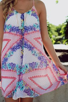 Floral Printed Open Back Boho Chiffon Dress | UOIOnline.com: Women's Clothing Boutique