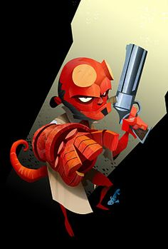 Young Hellboy animation style #hellboy