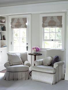 Classic fabric roman shades - inside mount & door mount