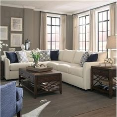 Trisha Yearwood Home Collection by Klaussner Atlanta Sectional Sofa