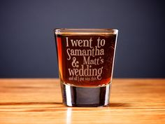 A Personalized SET OF 12 Shot Glasses  by RedDotLaserEngraving, $34.99