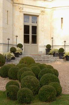 Fabulous French Chateau and Boxwood