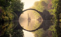 """burntcopper: """"Kromlau bridge, Germany, during all four seasons. """" Check out Beautiful World Bucket List for more beautiful places - Never Miss A Post! If you would like to submit a beautiful place on..."""
